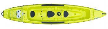three-seater kayak Borneo