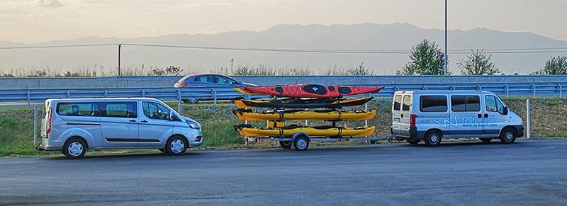 екскурзия с каяк и транспортиране